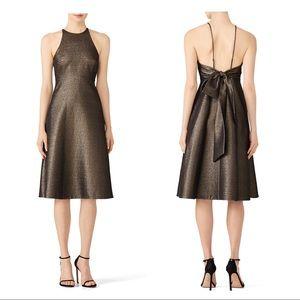 NWT Halston Heritage Glitter Bow Back Dress